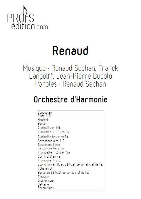 Renaud - Orchestre d'Harmonie - RENAUD - page de garde