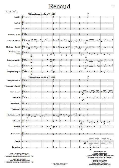Renaud - Orchestre d'Harmonie - RENAUD - app.scorescoreTitle