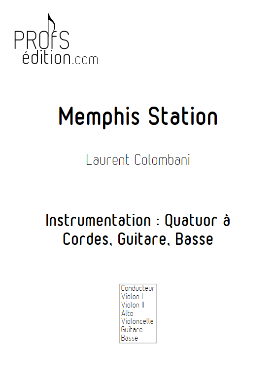 Memphis Station - Sextuor à Cordes - COLOMBANI L. - page de garde