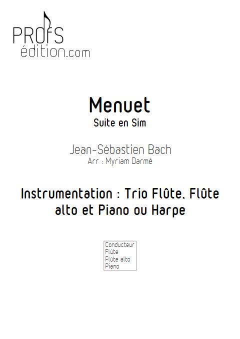 Menuet - Trio de Flûtes - BACH J. S. - page de garde