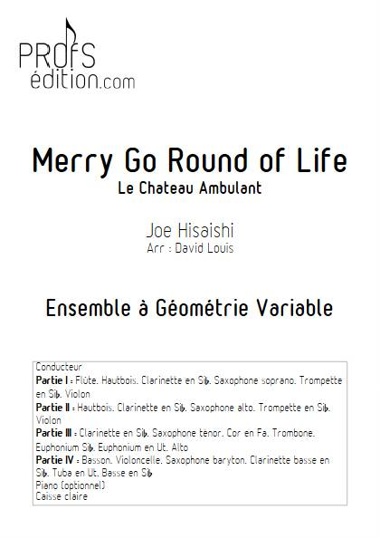 Merry go round of life (Le chateau ambulant) - Ensemble Variable - HISAISHI J. - page de garde