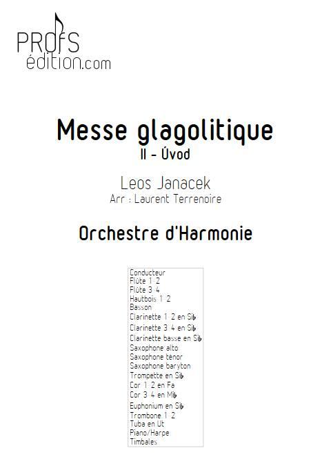 Messe glagolitique - Orchestre d'Harmonie - JANACEK L. - page de garde