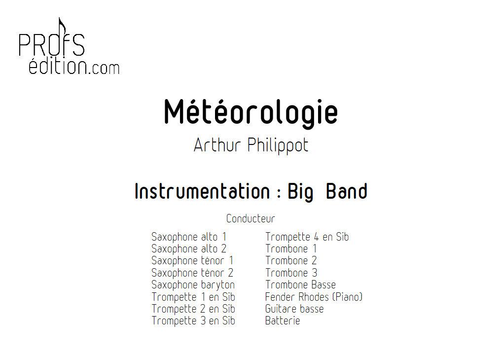 Météorologie - Big Band - PHILIPPOT A. - page de garde