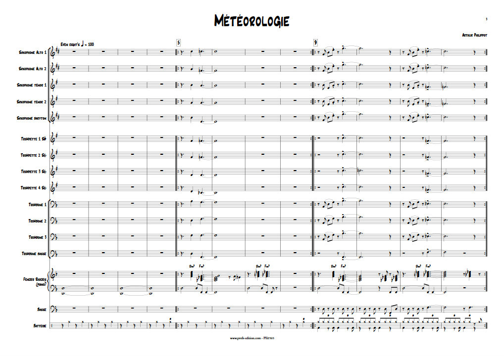 Météorologie - Big Band - PHILIPPOT A. - Partition