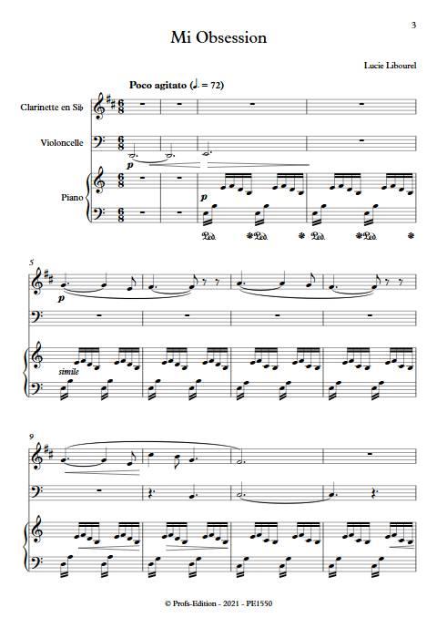 Mi Obsession - Trio - LIBOUREL L. - app.scorescoreTitle