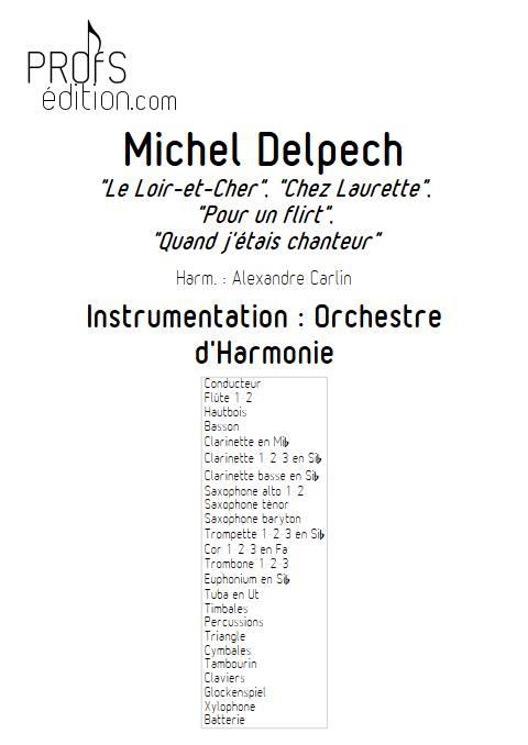 Michel Delpech - Orchestre d'Harmonie - DIVERS - page de garde