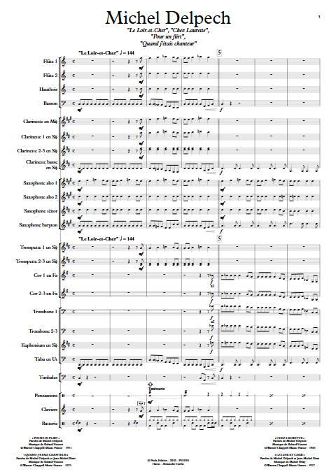 Michel Delpech - Orchestre d'Harmonie - DIVERS - Partition