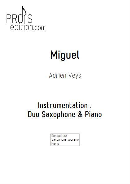 Miguel - Saxophone et Piano - VEYS A. - page de garde