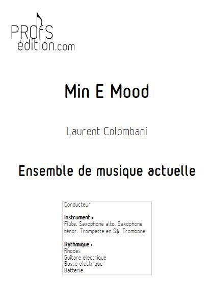 Min E Mood - Ensemble de musique actuelle - COLOMBANI L. - page de garde