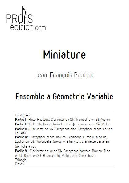 Miniature - Ensemble Variable - PAULEAT J-F - page de garde