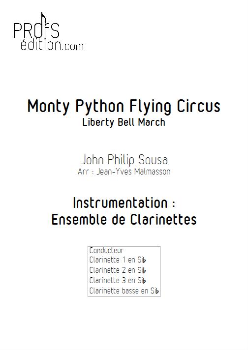 Monty Python Flying Circus - Liberty Bell - Ensemble de Clarinettes - SOUSA P. S. - page de garde