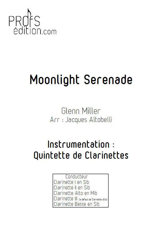 Moonlight Serenade - Quintette de Clarinettes - MILLER G. - page de garde