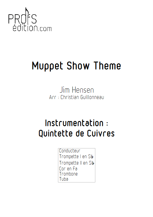 The Muppet Show - Quintette de Cuivres - HENSON J. - page de garde