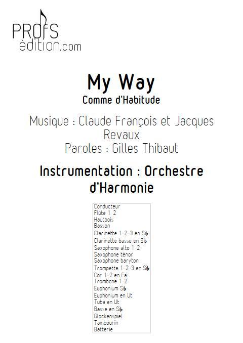 My way (Comme d'habitude) - Orchestre d'Harmonie - FRANÇOIS C. - page de garde