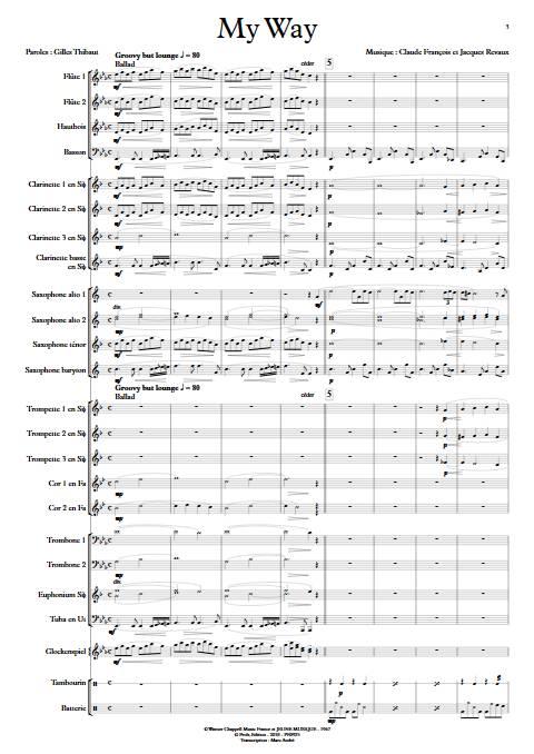 My way (Comme d'habitude) - Orchestre d'Harmonie - FRANÇOIS C. - Partition
