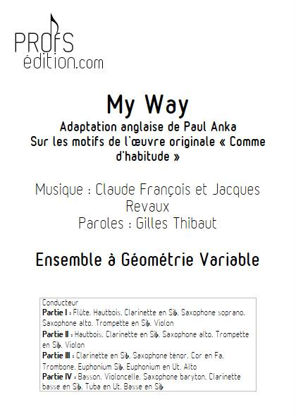 My way (Comme d'habitude) - Ensemble Variable - FRANÇOIS C. - page de garde