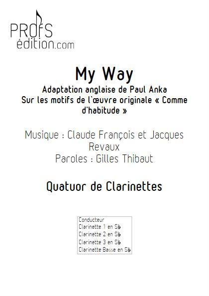 My Way - Quatuor de Clarinettes - FRANCOIS C. - page de garde
