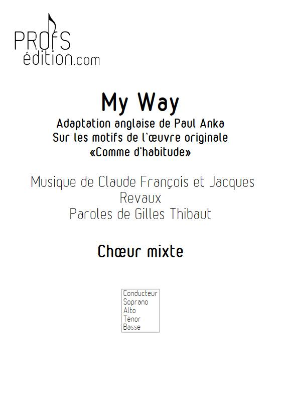 My Way - Chœur mixte - FRANCOIS C. - page de garde