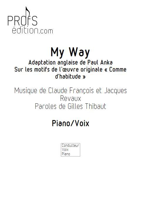 My Way - Piano Voix - FRANCOIS C. - page de garde