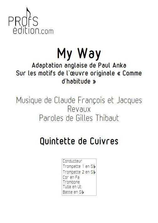 My way (Comme d'habitude) - Quintette de Cuivres - FRANÇOIS C. - page de garde