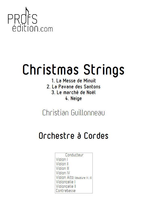 Neige - Orchestre Cordes - GUILLONNEAU C. - page de garde