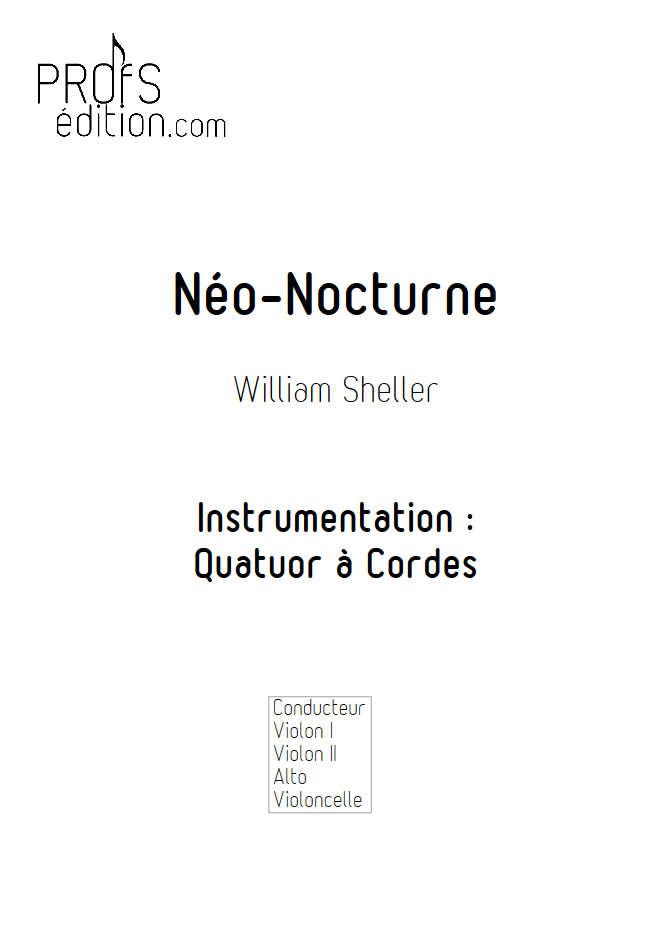 Néo Nocturne - Quatuor à Cordes - SHELLER W. - page de garde
