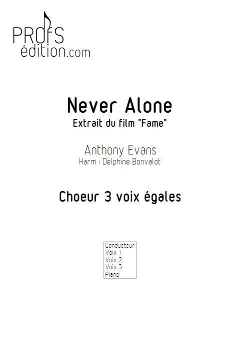 Never Alone - Chœur 3 voix égales - EVANS A. - page de garde