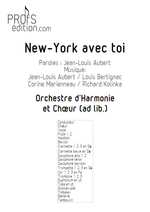 New-York avec toi - Orchestre d'Harmonie - TELEPHONE - page de garde