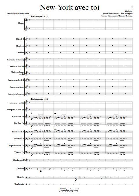 New-York avec toi - Orchestre d'Harmonie - TELEPHONE - app.scorescoreTitle