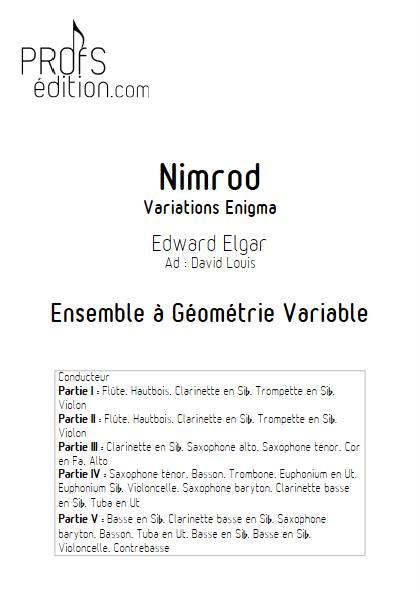 Nimrod - Ensemble Variable - ELGAR E. - page de garde
