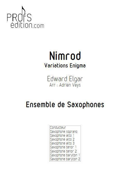 Nimrod - Ensemble de Saxophones - ELGARD E. - page de garde