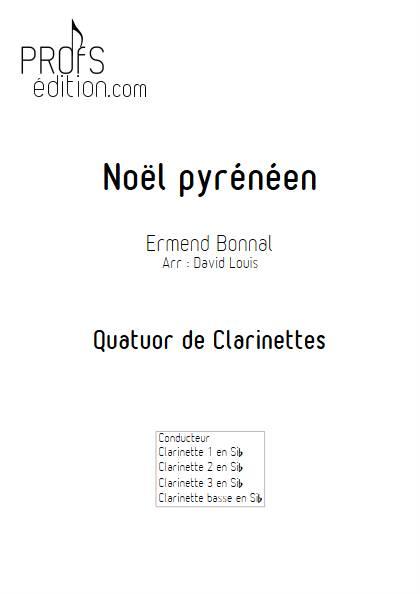 Noël Pyrénéen - Quatuor de Clarinettes - BONNAL E. - page de garde