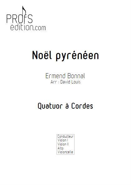 Noël Pyrénéen - Quatuor à Cordes - BONNAL E. - page de garde