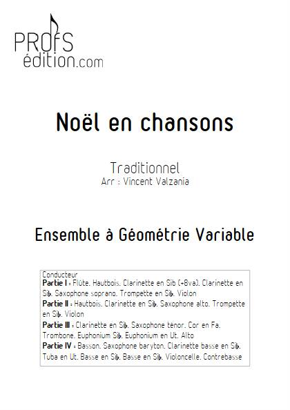 Noël en chansons - Ensemble Variable - TRADITIONNEL FRANCAIS - page de garde