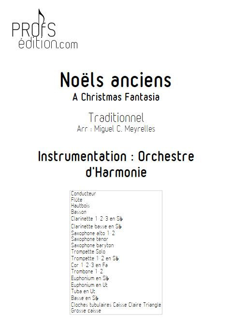 Noëls anciens - Orchestre d'Harmonie - TRADITIONNEL - page de garde