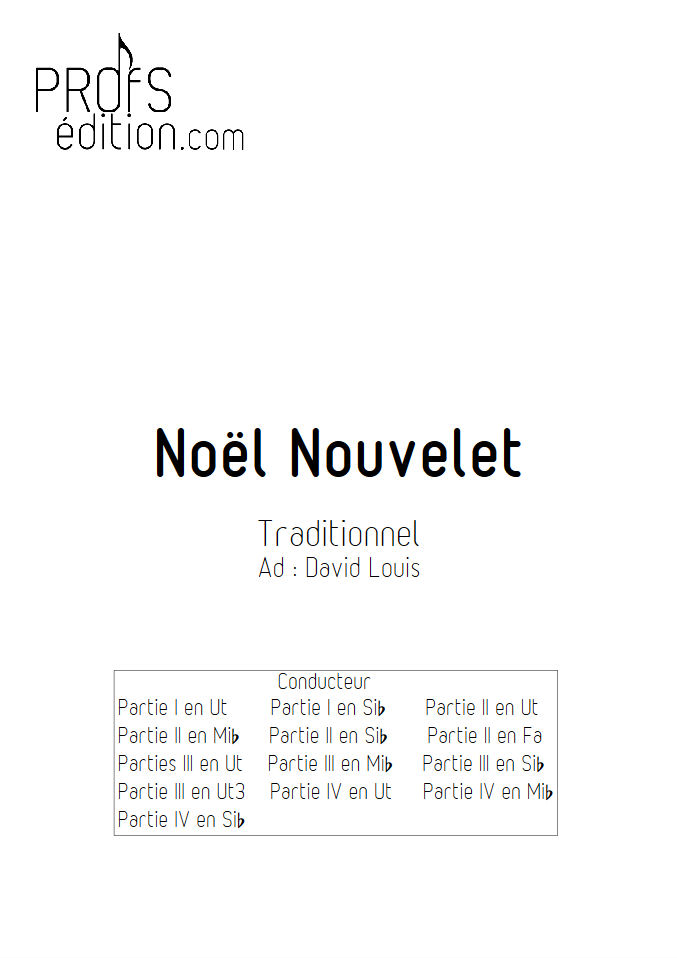 Noël nouvelet - Ensemble Géométrie Variable - TRADITIONNEL - page de garde