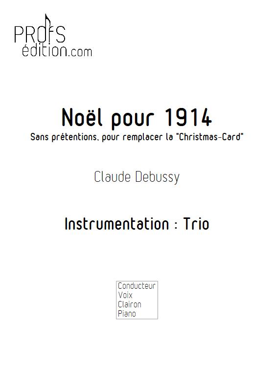 Noël pour 1914 - Trio - DEBUSSY C. - page de garde
