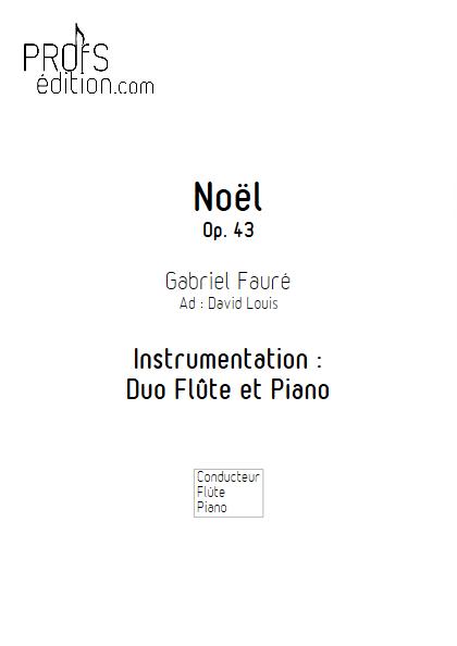 Noël - Duo Flûte & Piano - FAURE G. - page de garde