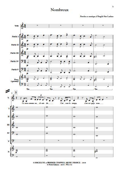 Nombreux - Ensemble Variable - ANGELE - Partition
