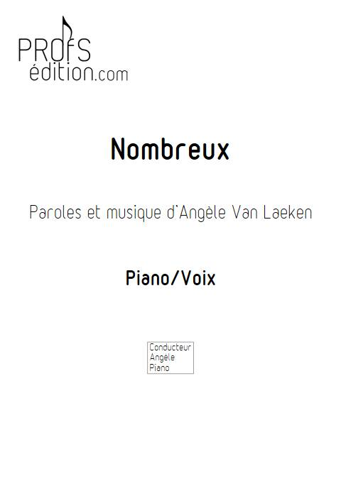Nombreux - Piano Voix - ANGELE - page de garde