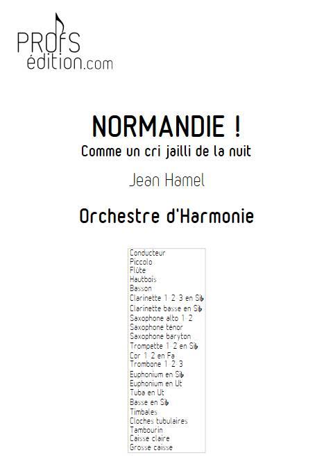 Normandie ! - Orchestre d'Harmonie - HAMEL J. - page de garde