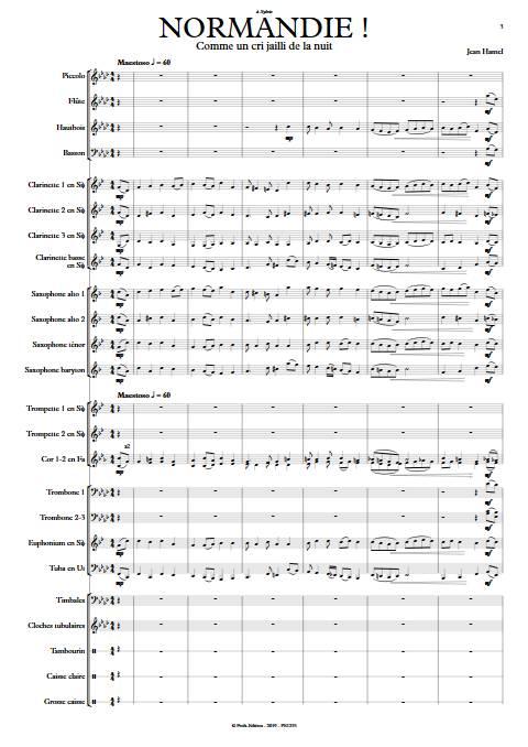 Normandie ! - Orchestre d'Harmonie - HAMEL J. - app.scorescoreTitle