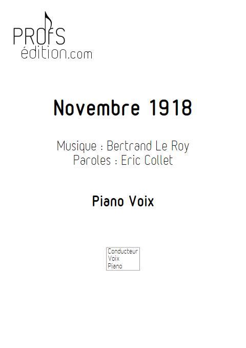 Novembre 1918 - Piano Voix - LE ROY B. - page de garde
