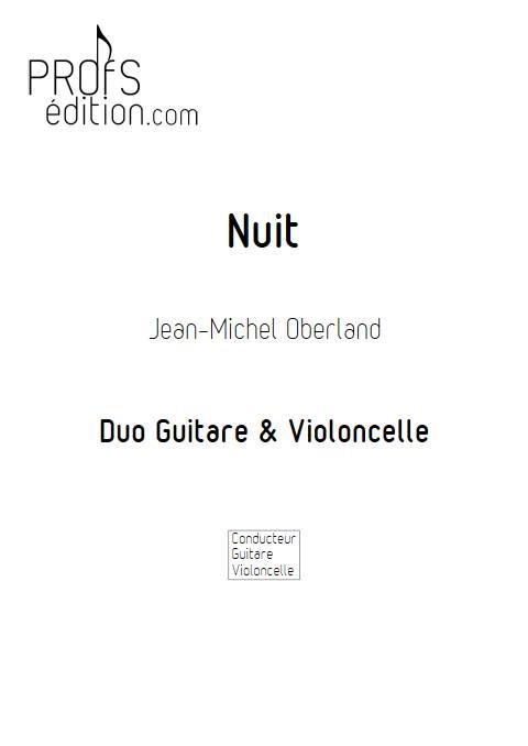 Nuit - Duo Guitare Violoncelle - OBERLAND J. M. - page de garde