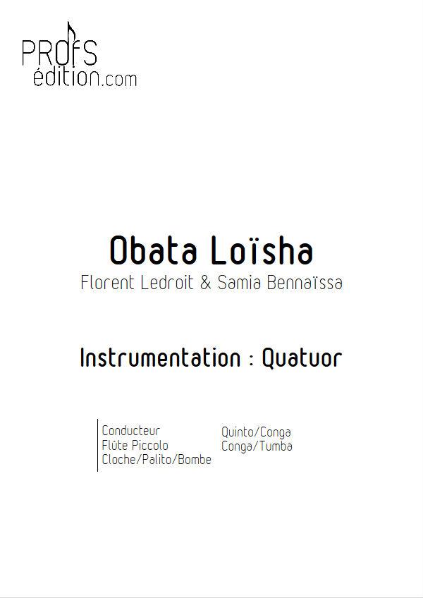 Obata Loïsha - Quatuor Flûte Percussions - LEDROIT F. - page de garde