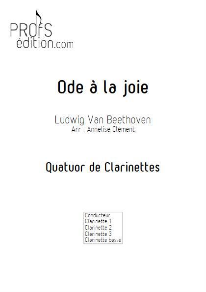 Ode à la joie - Quatuor de Clarinettes - BEETHOVEN L. V. - page de garde