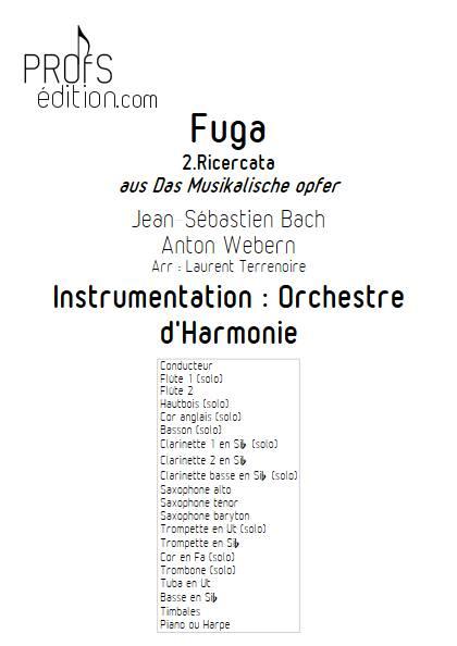 L'Offrande Musicale - Orchestre d'Harmonie - BACH J.S. WEBERN A. - page de garde