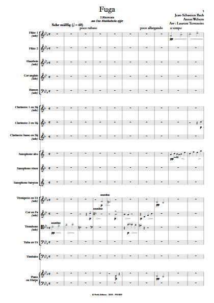 L'Offrande Musicale - Orchestre d'Harmonie - BACH J.S. WEBERN A. - Partition