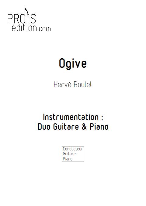 Ogive - Duo Guitare et Piano - BOULET H. - page de garde