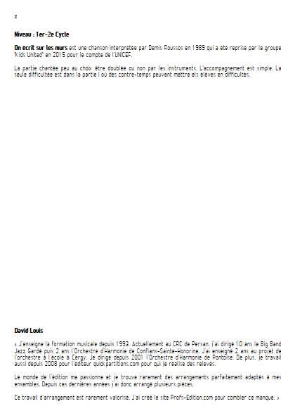 On écrit sur les murs - Ensemble à Géométrie Variable - MUSUMARRA R. - page de garde